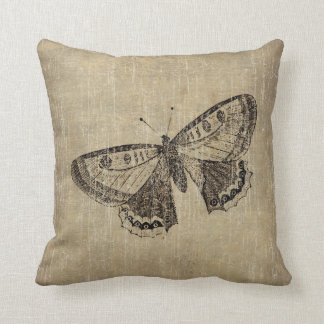 Vintage Butterfly Throw Pillow