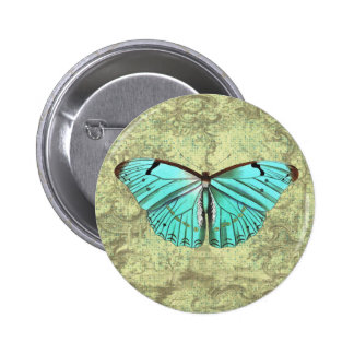 Vintage Butterfly Pinback Button