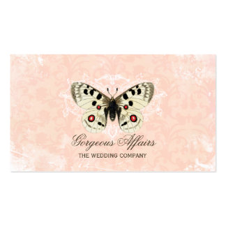 Vintage Butterfly pink Business Card