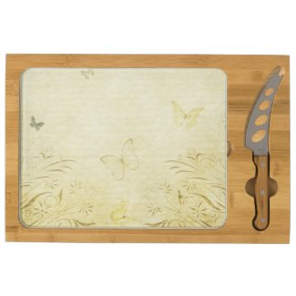 Vintage Butterfly Rectangular Cheese Board