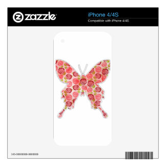 vintage butterfly skins for iPhone 4