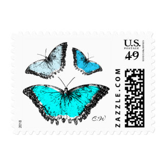 Vintage Butterfly Stamp