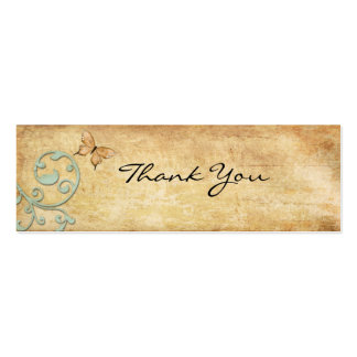 Vintage Butterfly Thank You Note Business Card Template