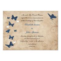 vintage butterfly wedding  Invitations (<em>$2.43</em>)