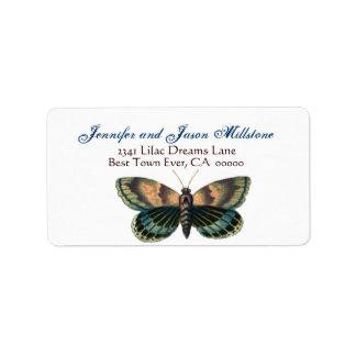 Vintage Butterfly  Wedding Label