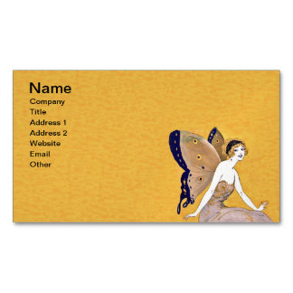 Vintage Butterfly Wings Fairy Fae Blond Hair Magnetic Business Cards (Pack Of 25)