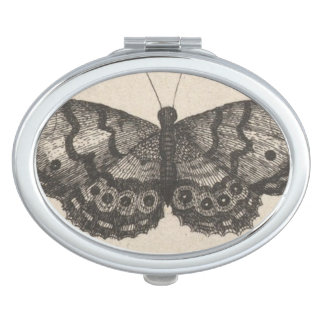 Vintage Butterfly Wings Nature Insect Mirror For Makeup