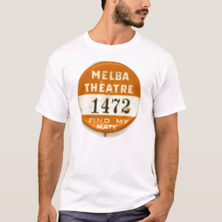Vintage Button Melba Theatre Kitsch T-Shirt