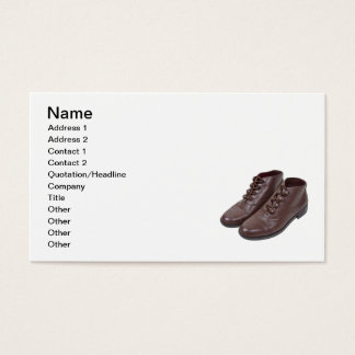 Vintage Button Shoes Business Card