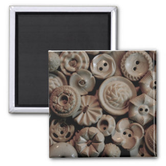 Vintage Buttons 2 Inch Square Magnet