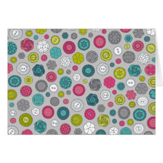 Vintage Buttons notecard