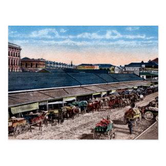 Vintage c1910 French Market New Orleans LA (color) Postcard