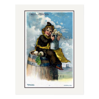 Vintage c 1900 Gruss aus Muenchen Litho Postcard