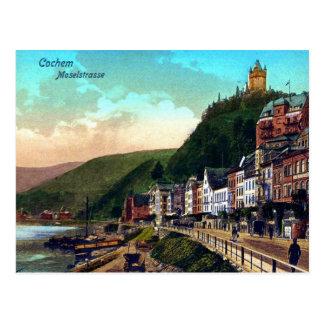 Vintage ca 1900 Cochem Moselstrasse Moselle river Postcard