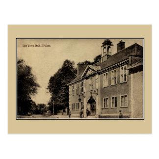 Vintage ca 1900 Town Hall Hitchin Hertfordshire Postcard