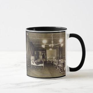 Vintage ca 1918 Historical Photo-Firemen in Beds Mug