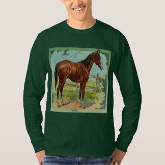 Vintage, caballo de Brown Playera