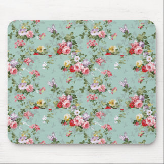 Vintage Cabbage Roses and Lilacs Mouse Pad