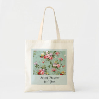 Vintage Cabbage Roses and Lilacs Tote Bag
