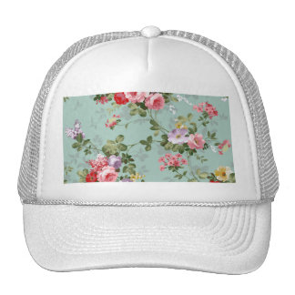 Vintage Cabbage Roses and Lilacs Trucker Hat