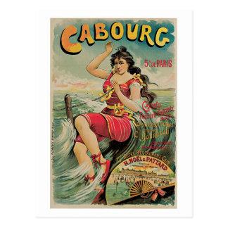 vintage Cabourg (Calvados, Normandy) travel Ad Postcards