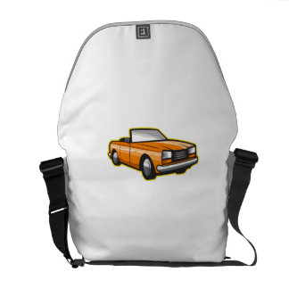 Vintage Cabriolet Top-Down Car Isolated Retro Courier Bag