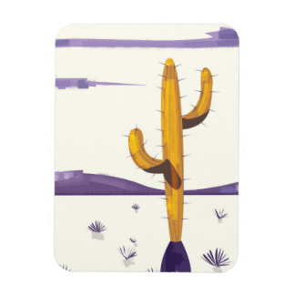 Vintage Cactus in the desert Magnet