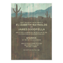 Vintage Cactus Wedding Invitations