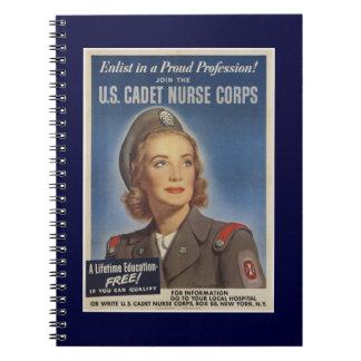 Vintage Cadet Nurses Notebook