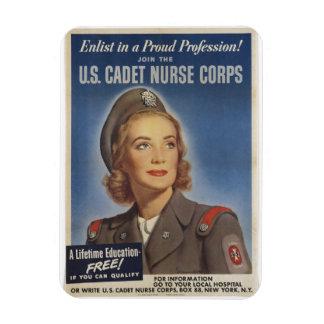 Vintage Cadet Nurses Rectangular Photo Magnet