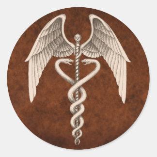 Vintage Caduceus Medical Symbol Business Stickers