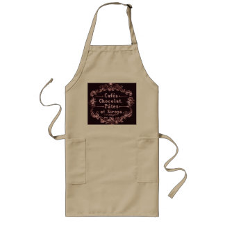 Vintage Cafe Advertisement Typography Long Apron