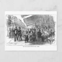 Vintage Cafe Boulevard Montmartre Paris Postcard