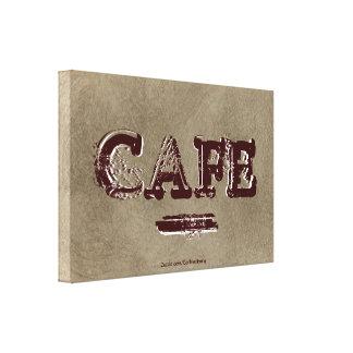 Vintage Cafe Kitchen Canvas Print - Turkish Coffee