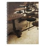 vintage cafe notebook