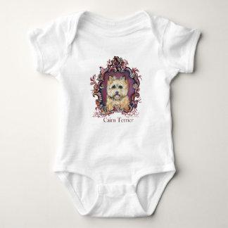 Vintage Cairn Terrier Baby Bodysuit