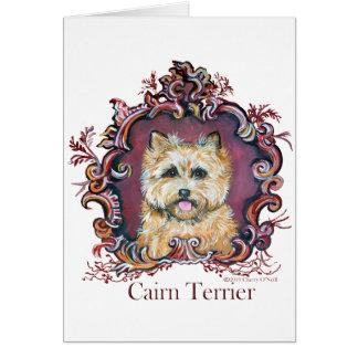 Vintage Cairn Terrier Card
