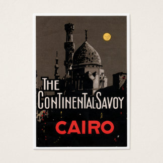 Vintage Cairo Hotel Poster Business Card