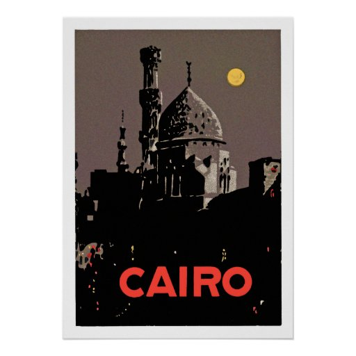Vintage Cairo Poster