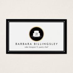 Vintage Cake Emblem Logo Bakery Iii Business Card at Zazzle