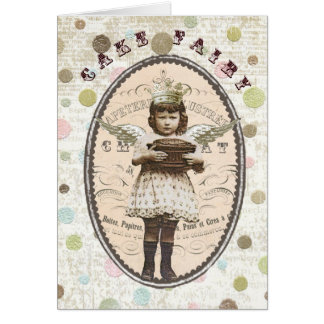 Vintage-Cake Fairy-notecard Card