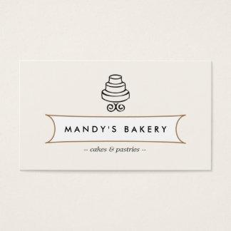 VINTAGE CAKE LOGO I for Bakery, Cafe, Catering Business Card