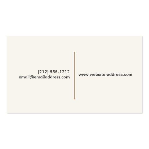 VINTAGE CAKE LOGO I for Bakery, Cafe, Catering Business Card Templates (back side)