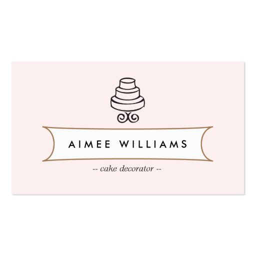 VINTAGE CAKE LOGO II for Bakery, Cafe, Catering Business Cards