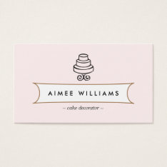 Vintage Cake Logo Ii For Bakery, Cafe, Catering Business Card at Zazzle