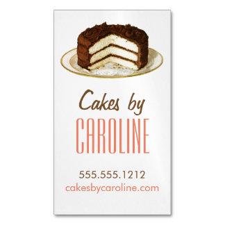 Vintage Cake Magnetic Business Card
