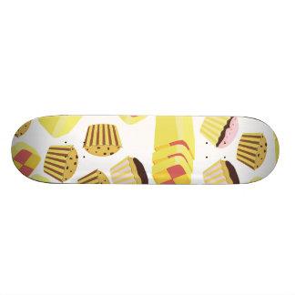 Vintage Cakes Pattern Skateboard Deck
