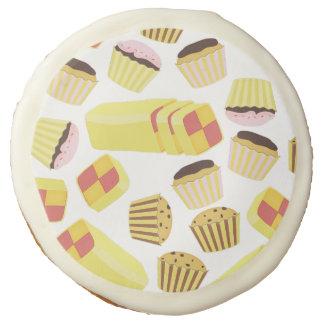 Vintage Cakes Pattern Sugar Cookie