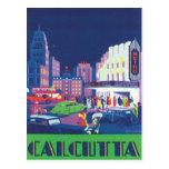 Vintage Calcutta Kolkata la India Postal