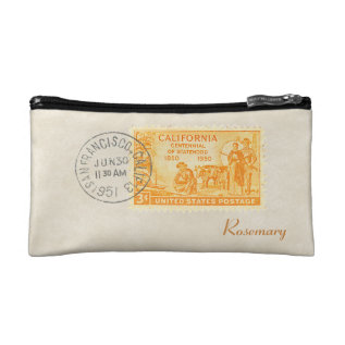 Vintage California 1850-1950 Centennial Cosmetic Makeup Bag at Zazzle